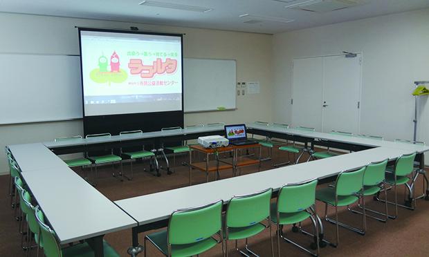 会議室2(定員24名) 48㎡(6.1m×7.8m) ※会議室3も同サイズ